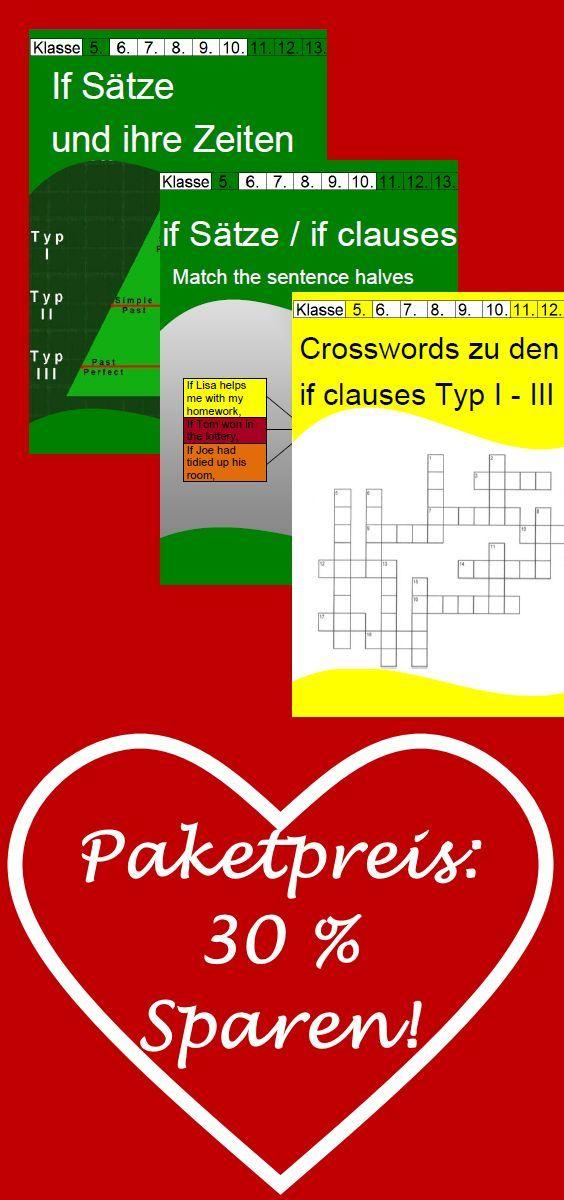 SPARPAKET: If Sätze - Arbeitsblätter und Kreuzworträtsel mit ...