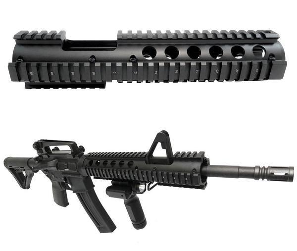 AR 15 Extended Quad Rail Handguard With FSP Cutout