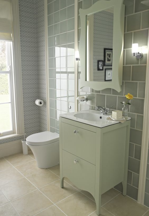 Green Bathroom With Modern And Cool Design Ideas With Images Green Bathroom Edwardian Bathroom Victorian Bathroom