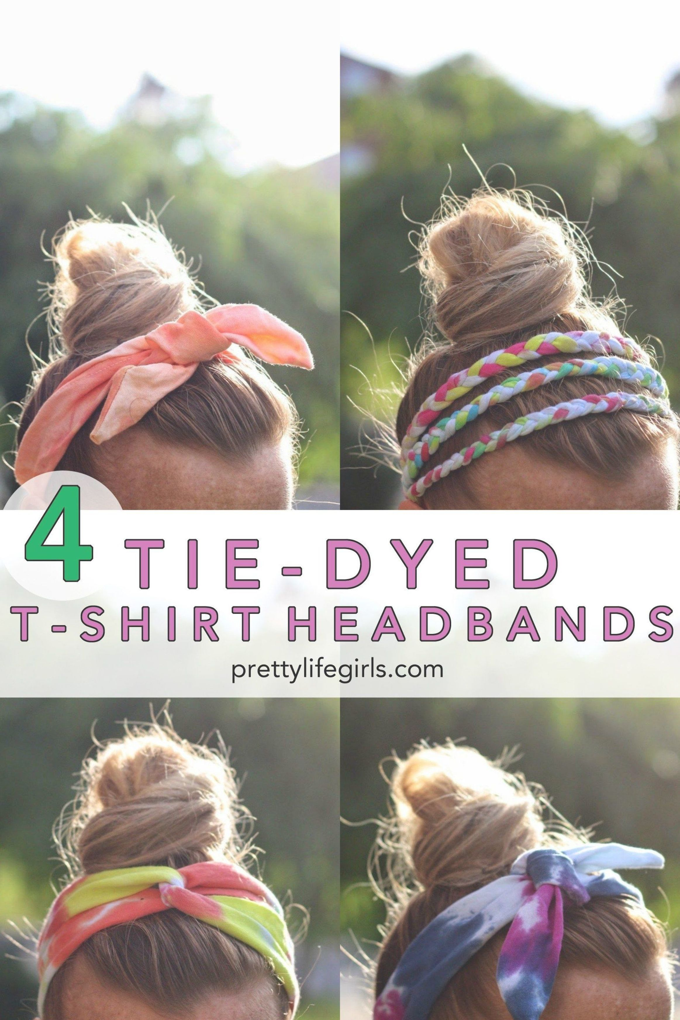 Diy tiedyed tshirt headbands the pretty life girls