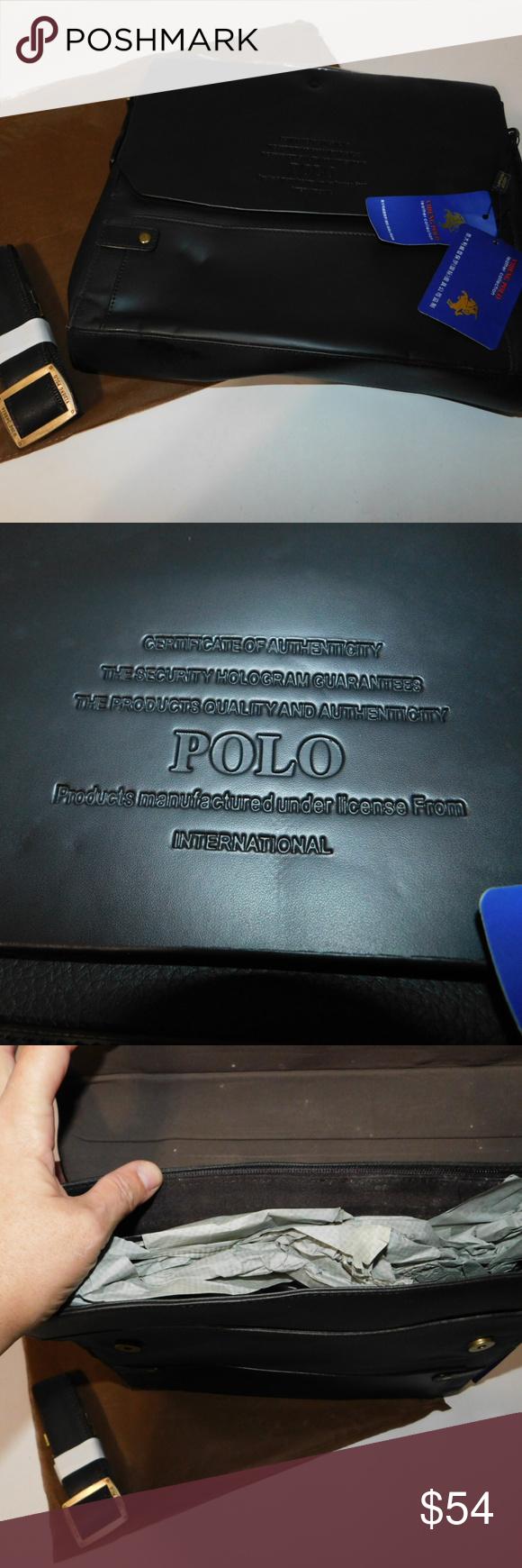 MESIDA Polo Men's Genuine Leather Briefcase Luxurious