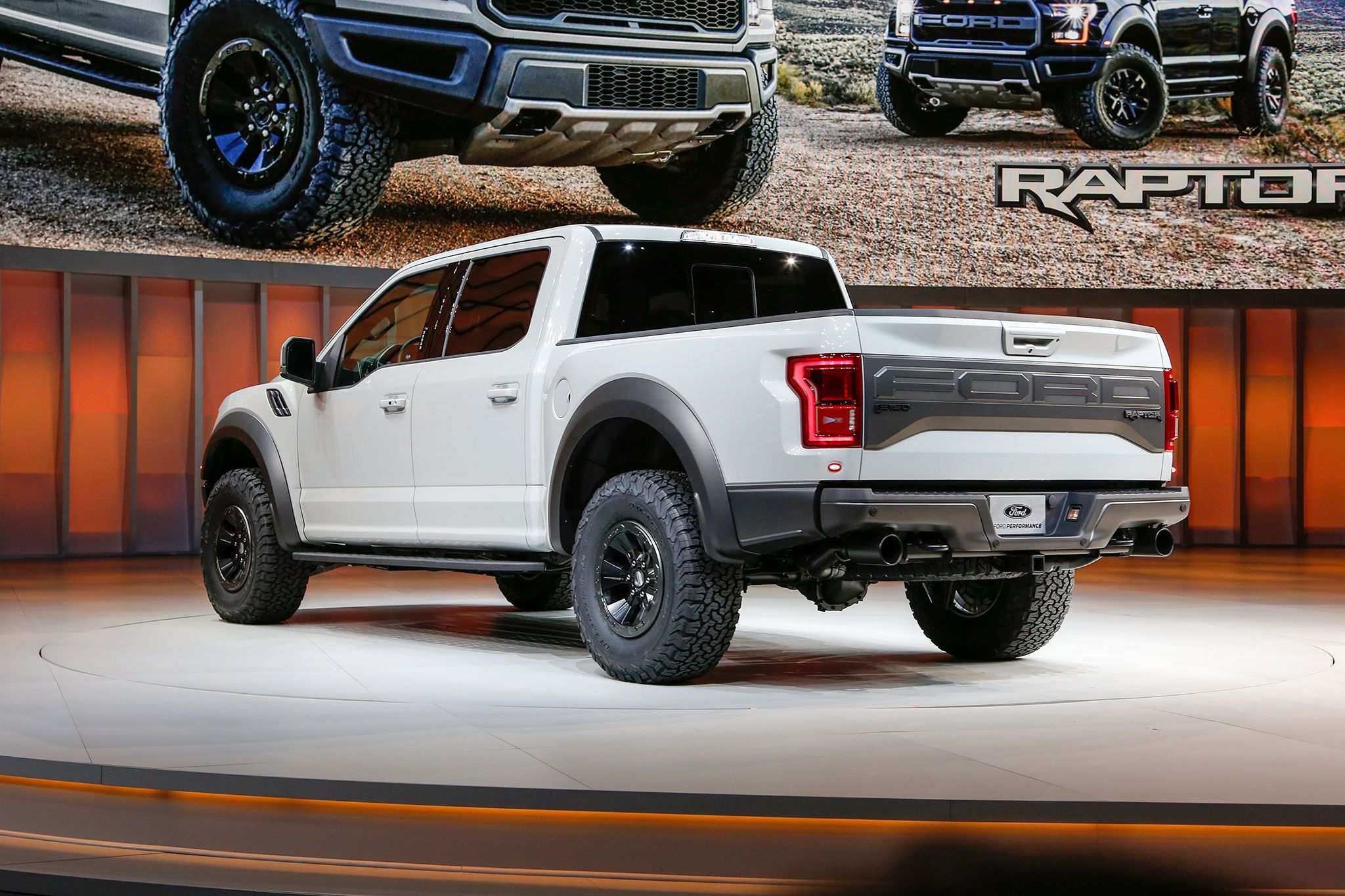 White Lifted Ford F 150 Boasts Contrasting Black Additions Ford