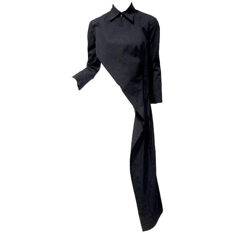 1stdibs | 1990's Yohji Yamamoto Black Asymmetric Avant-Garde Jacket