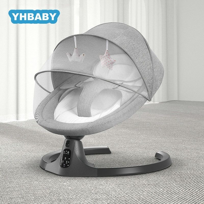 Baby Swing Multifunctional Aluminum Alloy Baby Rocking Chair Electric Baby Cradle With Remote Control Crad In 2020 Baby Rocking Chair Baby Swings Toddler Rocking Chair