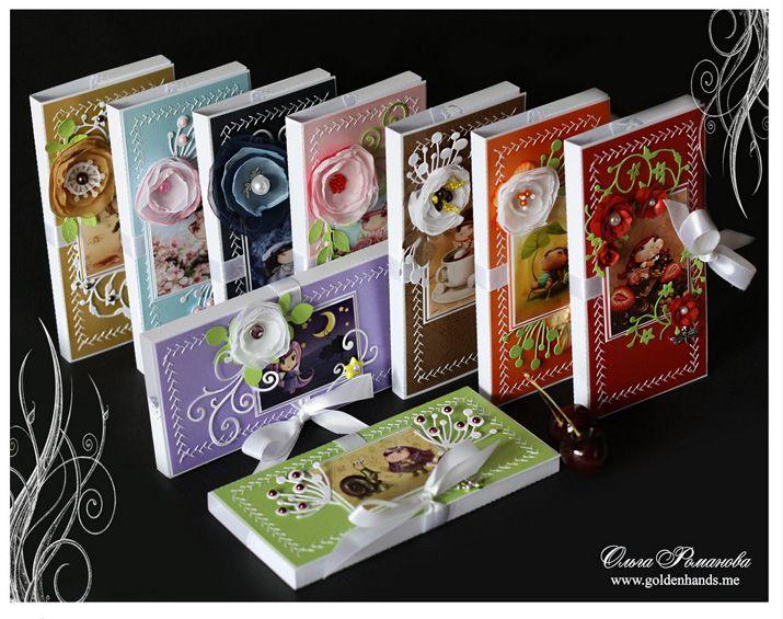 Открытка упаковка для шоколада, для открытки