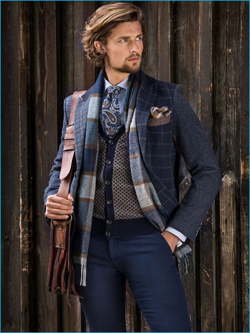 Wouter Len Is Country Chic In A Mix Of Rustic Patterns From Scapa