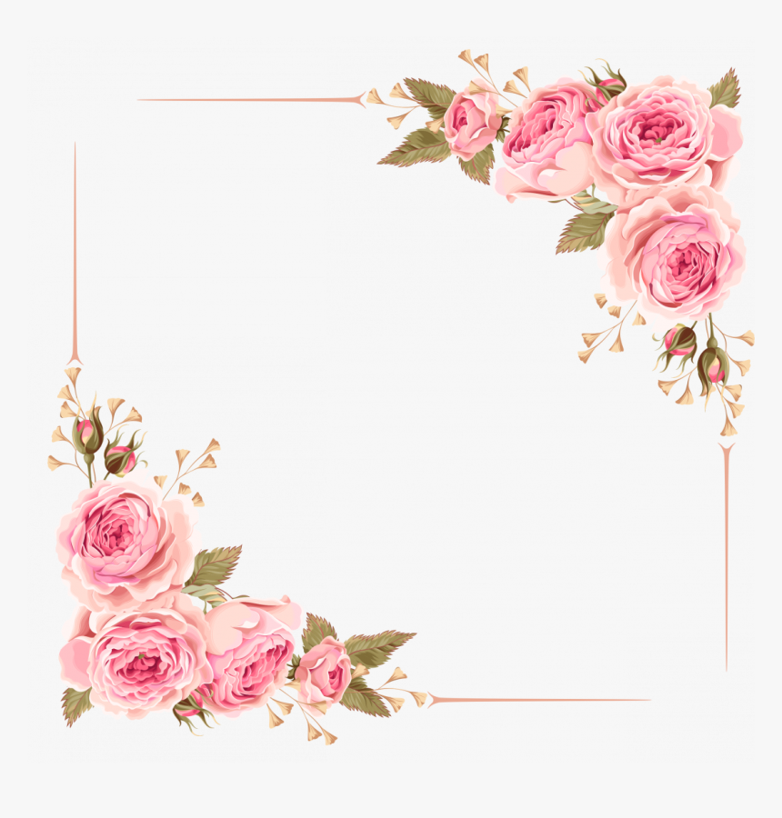 Wedding Invitation Border Card Vector Gold Borders Flower Frame Square Png Transparent Png Is F In 2020 Flower Frame Wedding Card Frames Wedding Invitations Borders