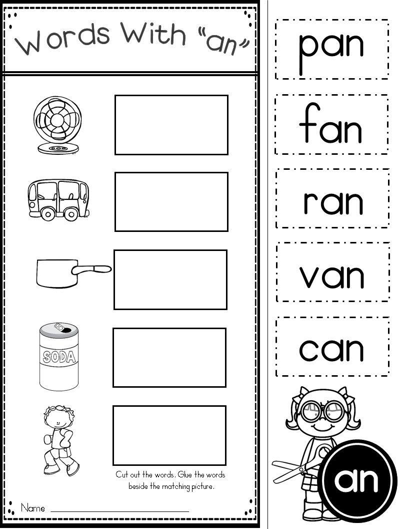 Short A Word Family Printables And Pocket Chart Word Family Worksheets Kindergarten Word Families Phonics Kindergarten [ 1056 x 816 Pixel ]