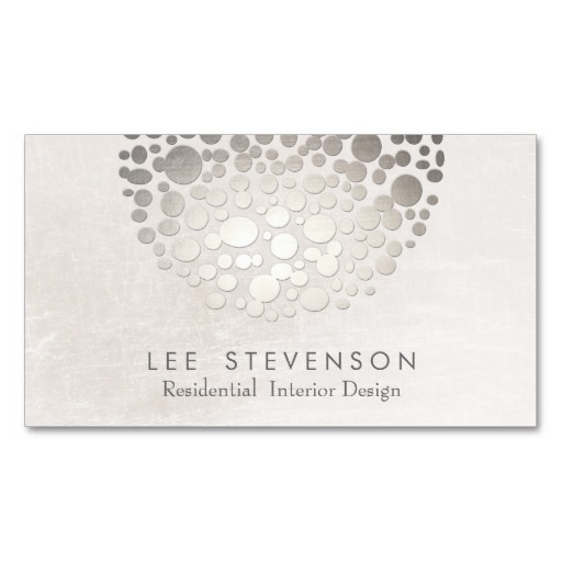 Modern stylish interior designer silver and gray business card modern stylish interior designer business card template reheart Images