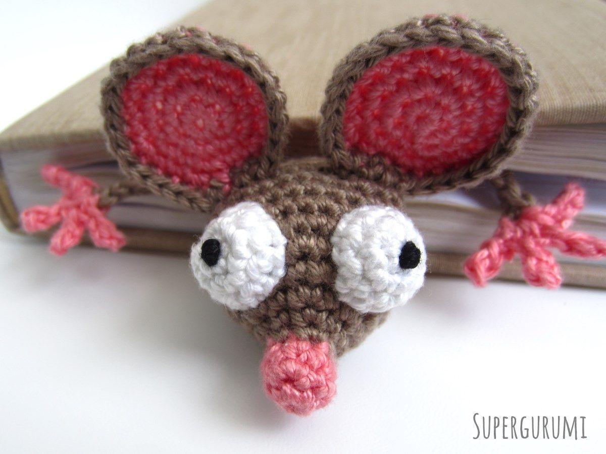 Amigurumi Lesezeichen Maus häkeln | Crochet Amigurumi | Pinterest ...