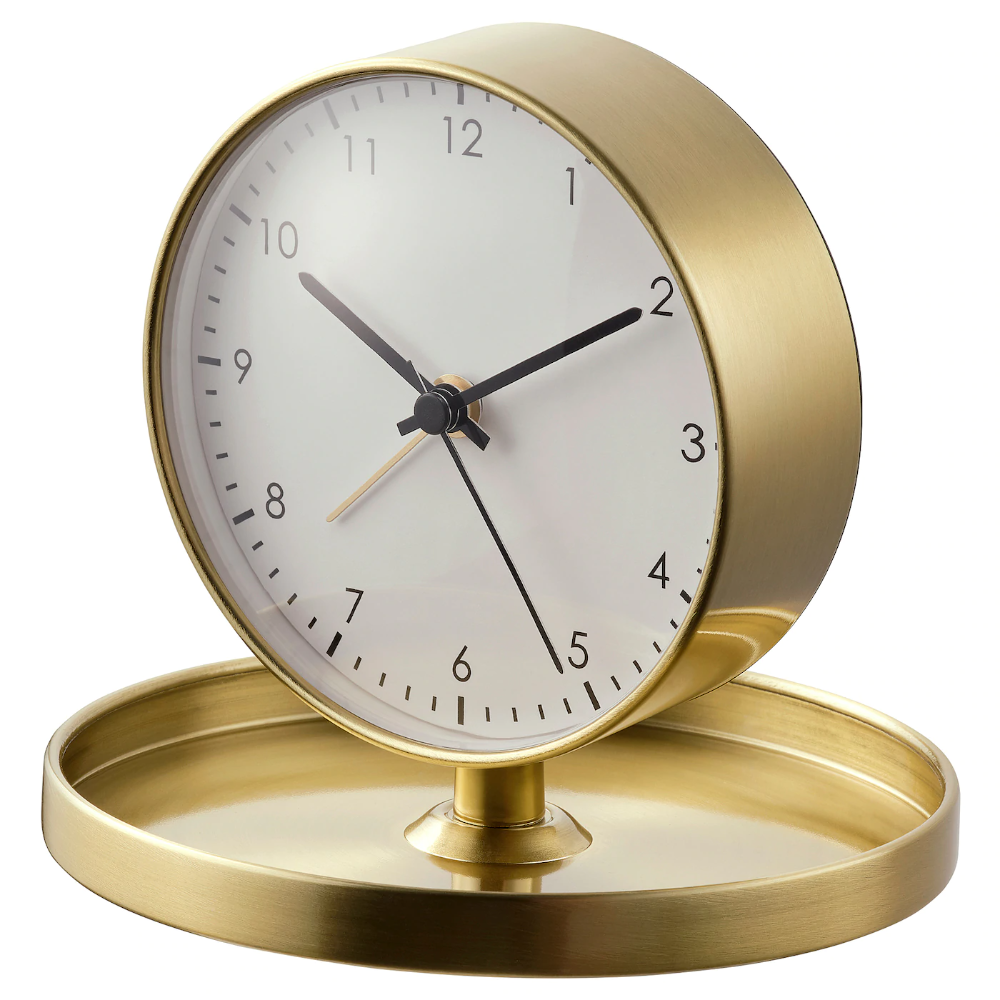 Ganga Alarm Clock Brass Color Ikea In 2020 Alarm Clock Clock Kitchen Clocks