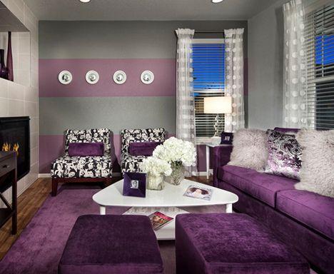 Wohnzimmer Grau Lila Weiss - Wohndesign -