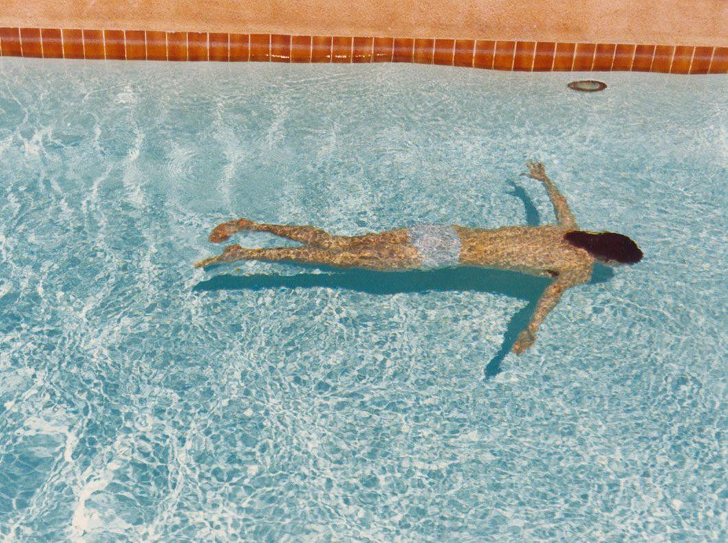 David Hockney, John St. Clair Swimming, April 1972