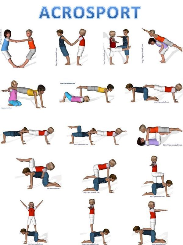 Gymnastic Positions With Partner