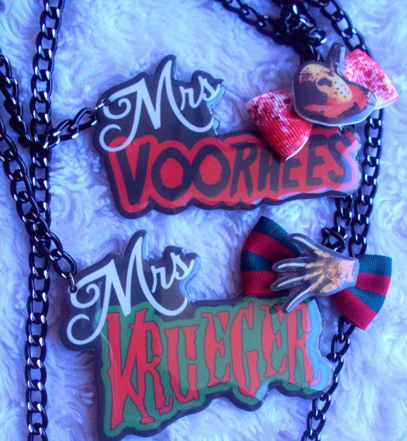 MADE TO ORDER, Mrs Horror Necklaces, Jason Voorhees, Freddy Krueger