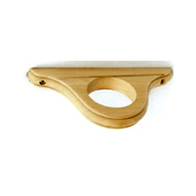 unfinished wood ceiling bracket for curtain pole western