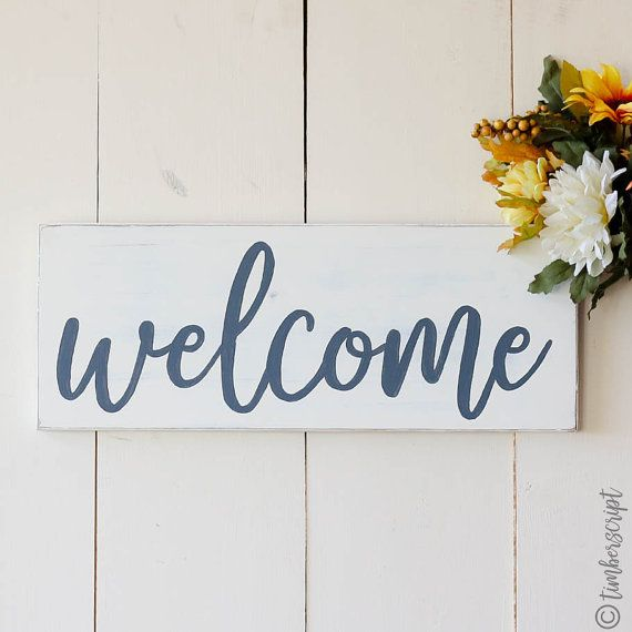 Wooden Welcome Sign | Farmhouse Welcome Sign | Farmhouse Style ...