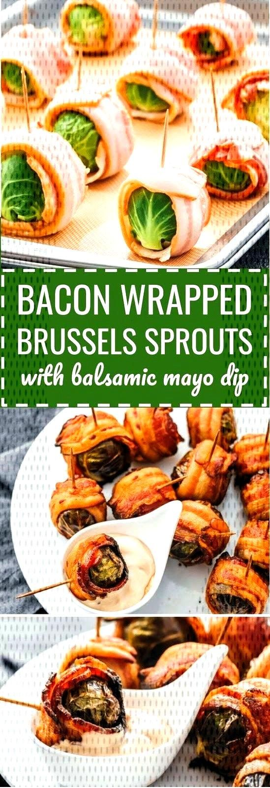 Bacon Wrapped Brussels Sprouts With Balsamic Mayo Dip Recipe This Thanksgiving Recipes was brillian