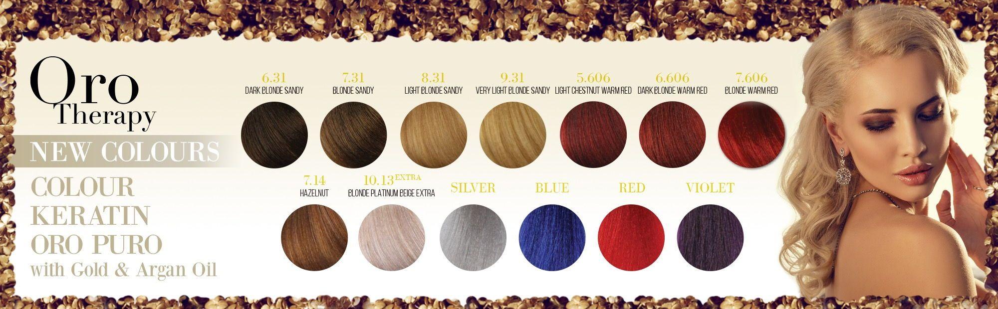 Fanola Oro Therapy Colours Www Fanola Com Au Fanola Hair Colour