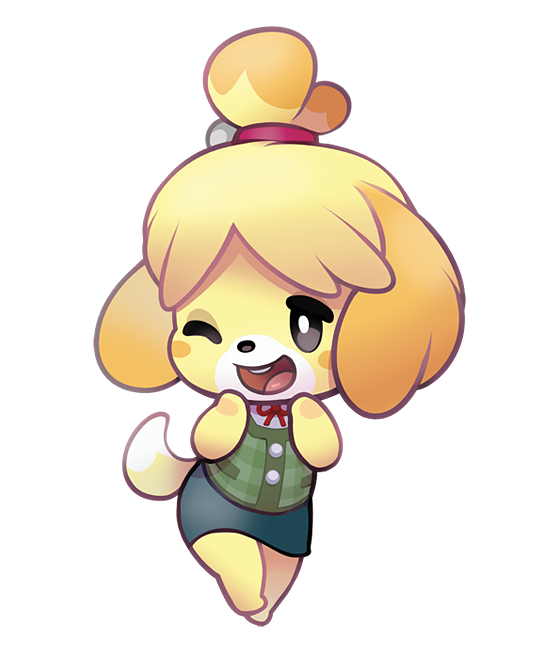 Isabelle From Animal Crossing Stickers Animal Crossing Fan Art Animal Crossing Game Animal Crossing Characters