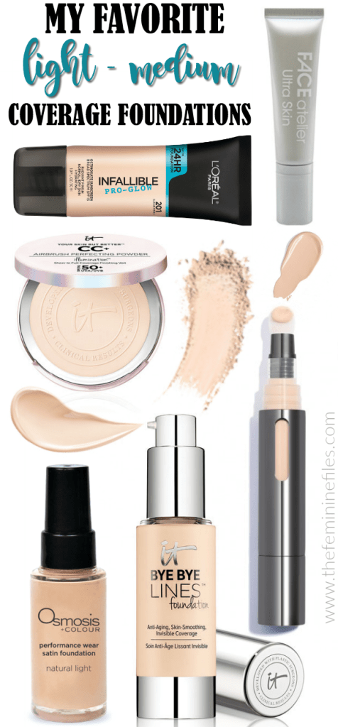 My Favorite Light to Medium Coverage Foundations