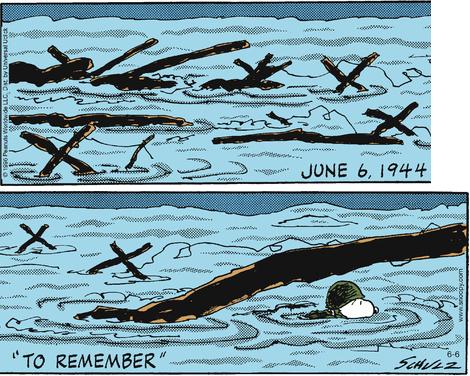 """""""D-Day Remember!""""   Peanuts.com   06-06-16"""