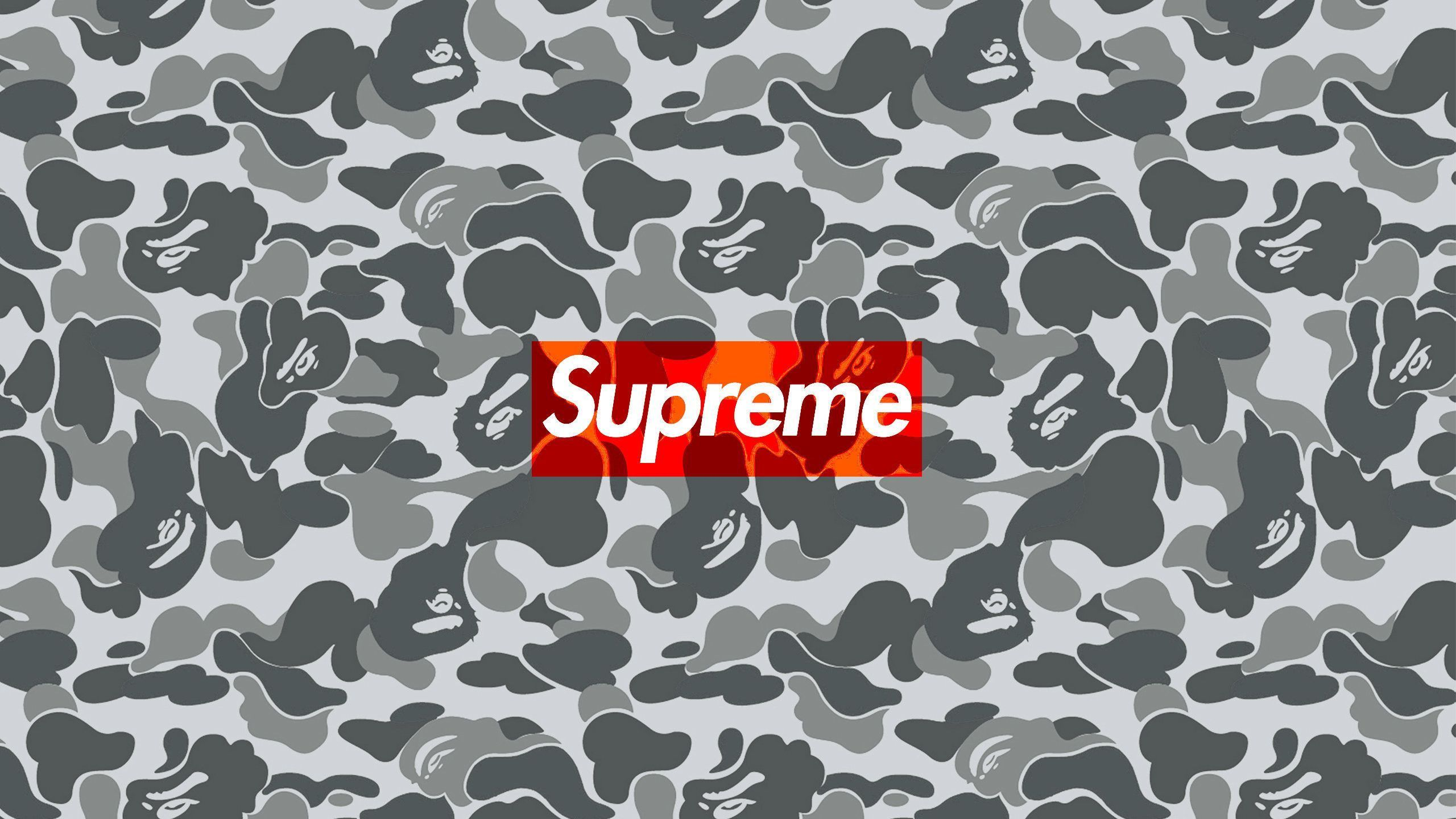 2560x1440 Download The Supreme Bape Camo Wallpaper Below For Your Mobile Device Android Phones Iphone Etc Bape Wallpapers Camo Wallpaper Supreme Wallpaper