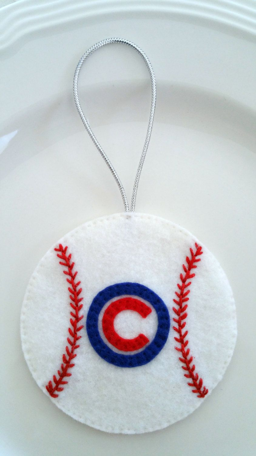 Felt Christmas Ornament – Chicago Cubs Baseball  Pinned By Pin4etsy