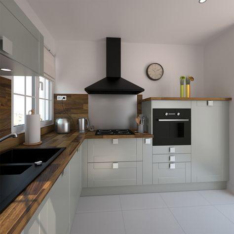 Cuisine équipée grise bois moderne FILIPEN Gris mat Kitchens