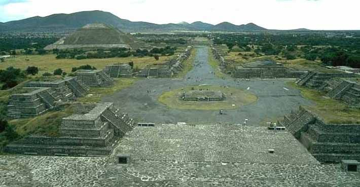 Pyramids Of The Sun And Moon In Teotihuacan