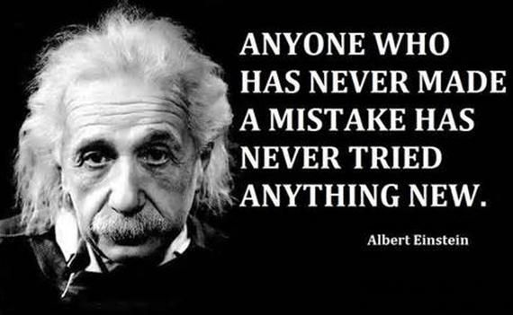 """XL Poster 12 x 18"""" Albert Einstein quote anyone who has never made a mistake has never tried anything #LifeQuotes #slogans #OldTesament #ReligiousQuotes #FamousPeople #MotivationQuotes #celebrities #FamousQuotes #BibleSctipture #sayings"""