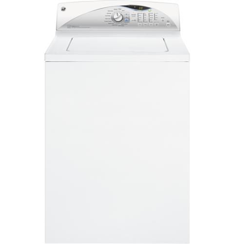 The only washer around with an agitator! GTWN5650FWS | GE® 3.9 DOE cu. ft. washer with stainless steel basket | GE Appliances