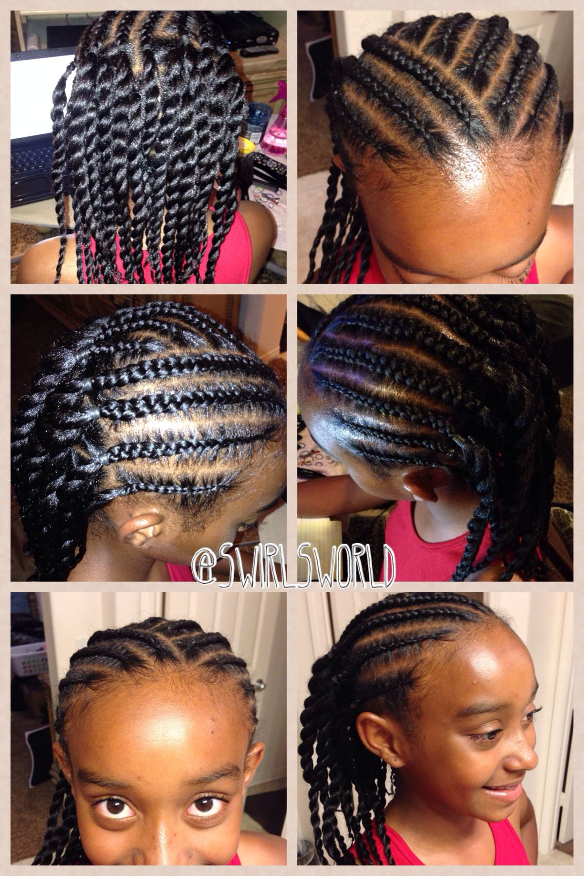 Easy braids and twisties | Hairstyles/braids for kids and adults ...