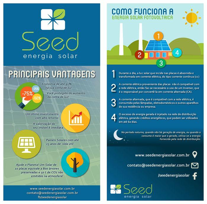 Seed Energia Solar Identidade Visual Flyer Frente Verso