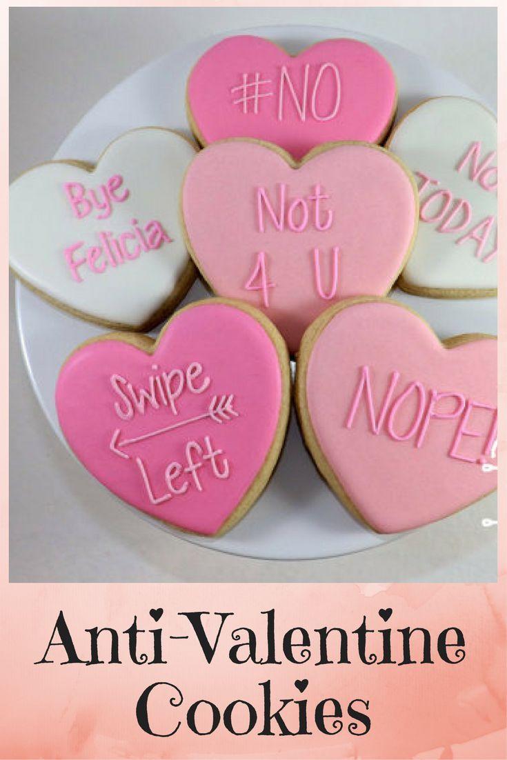 Sarcastic Anti Valentine S Day Cookies Ad Cookies Antivalentine