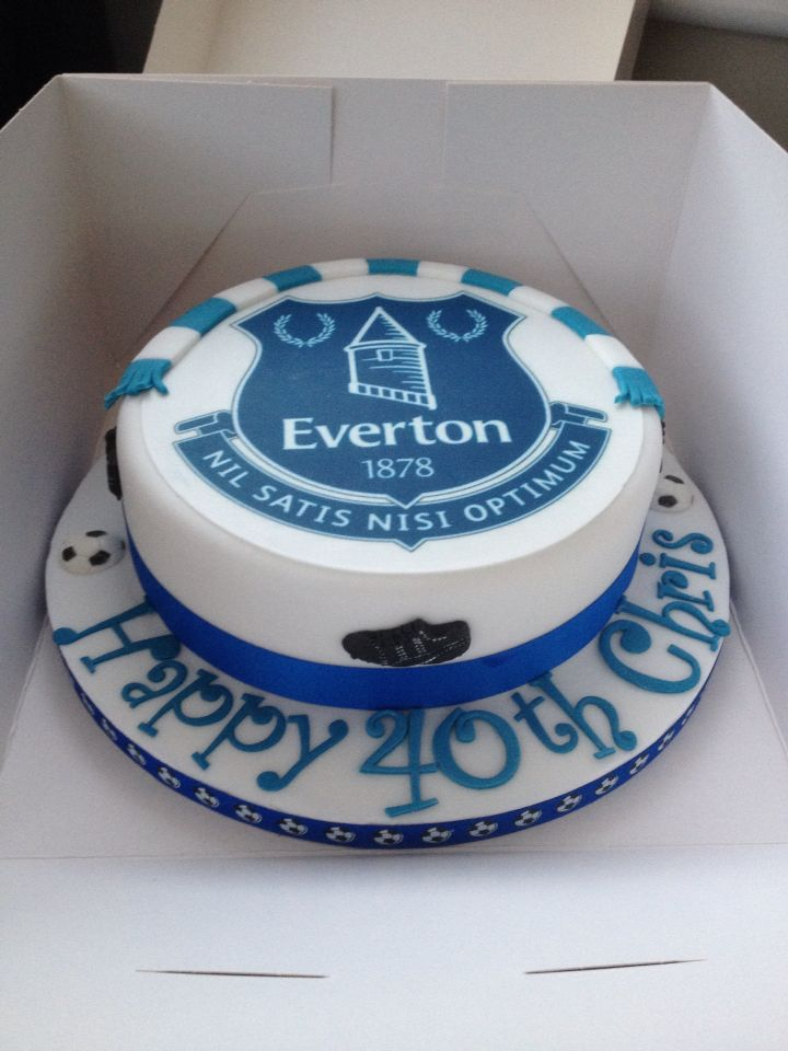 Everton cake efc Pinterest Cake Birthday cakes and Sugaring