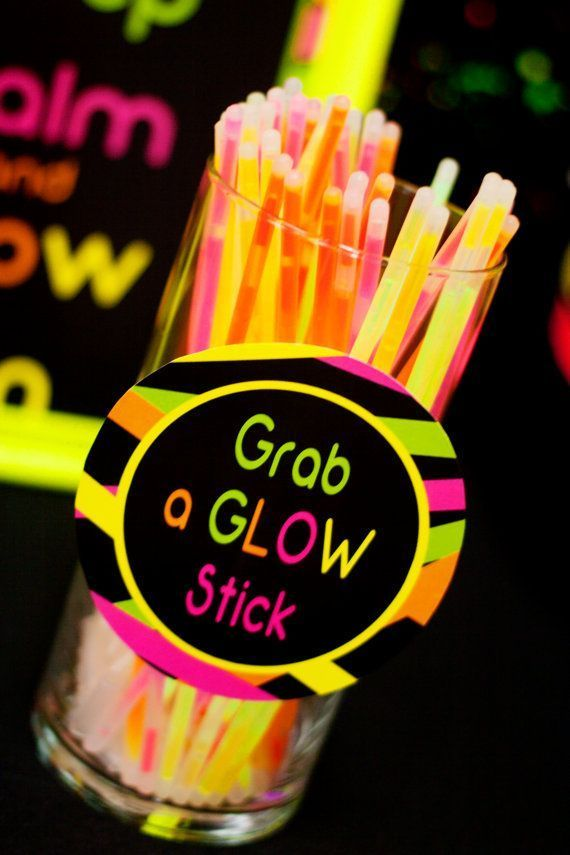 21 Awesome Neon Glow In the Dark Party Ideas & 21 Awesome Neon Glow In the Dark Party Ideas | Neon glow Neon and 21st