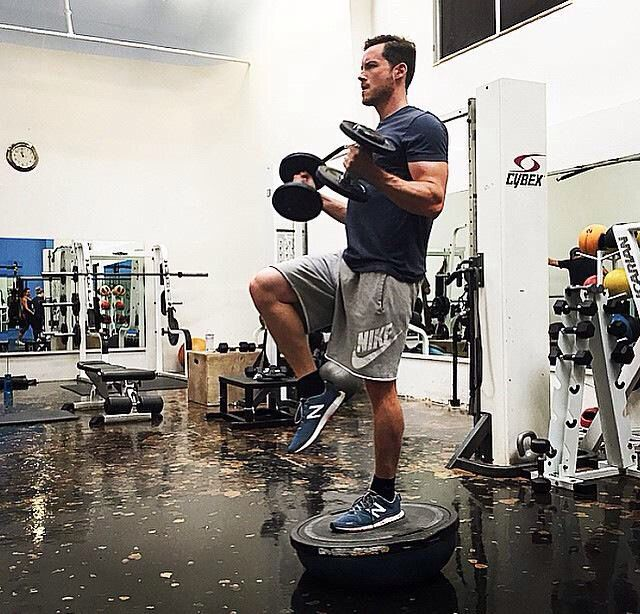 Jesse Lee Soffer working out.