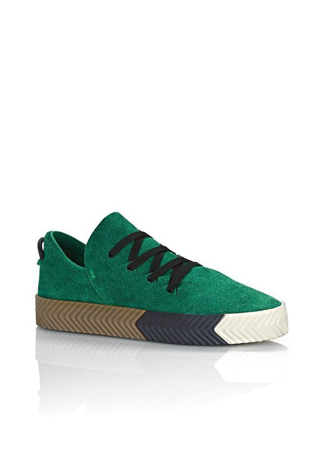 GREEN ADIDAS ORIGINALS BY AW SKATE SHOES SIZE 6 US WOMEN / 5 US MEN /