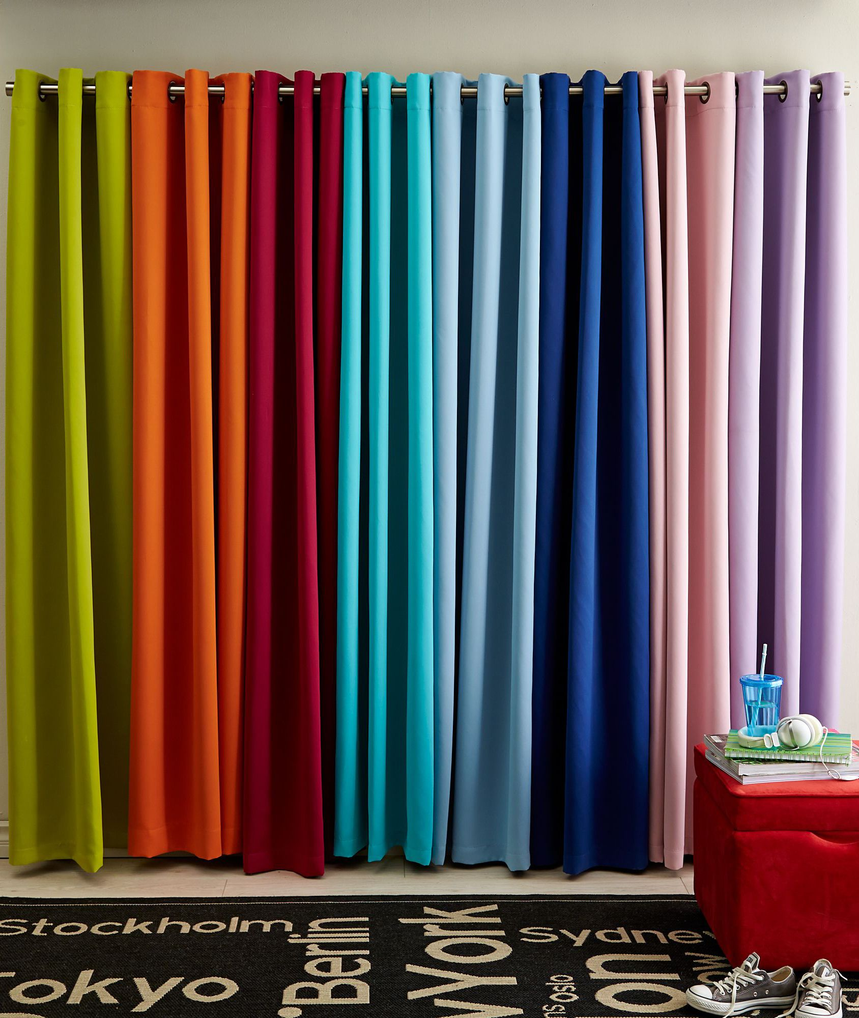 Brighten up your space with colourful curtains these curtains add