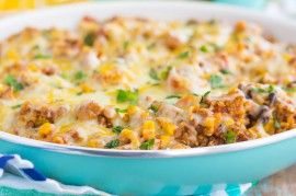 A cheesy blend of eggs, sausage, and other staple ingredients that's great for either dinner or breakfast!