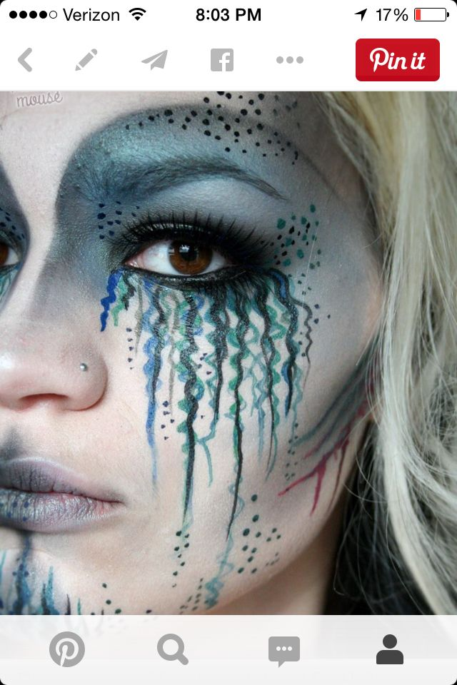 deep sea dead mermaid makeup halloween kostueme