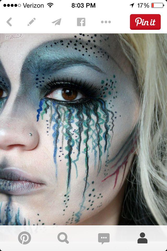 Deep Sea Dead Mermaid Mermaid Makeup Tutorial Mermaid Makeup Halloween Costumes Makeup