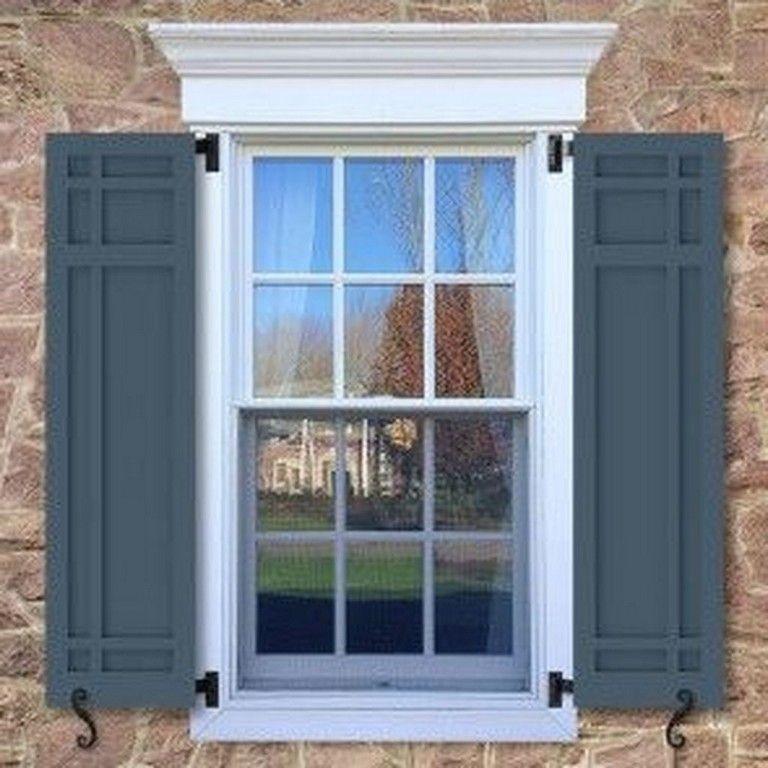 35 Inspiring Exterior Window Shutter Design Ideas Window Trim