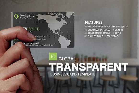 Global Transparent Business Card By Business Card On - Transparent business cards template