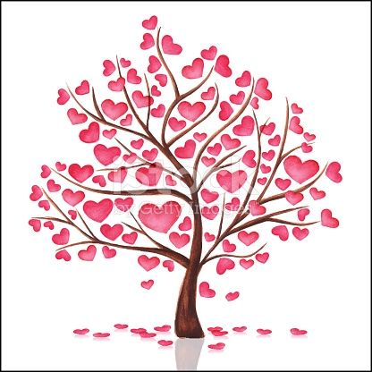 Tree With Heart Watercolor Handmade En 2020 Dessin Arbre De