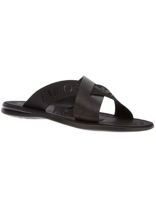 d84750d61 Men - Emporio Armani Logo Cross-Over Sandal