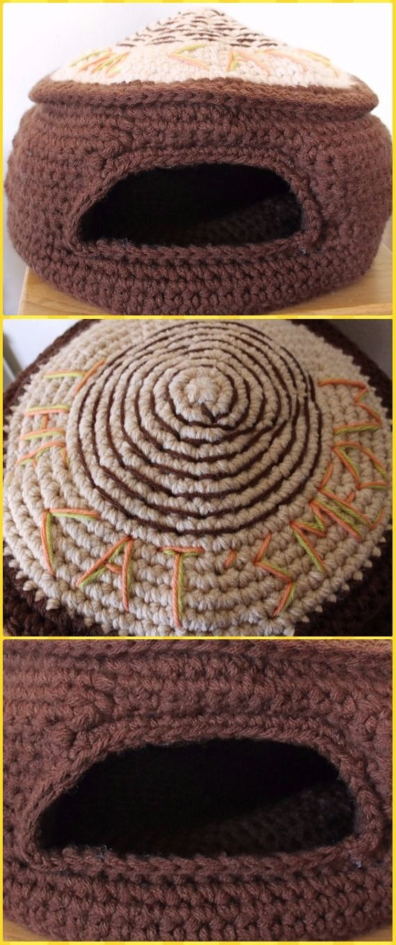 Crochet Cat House & Nest Bed Patterns | Crochet cats, Cat houses and ...