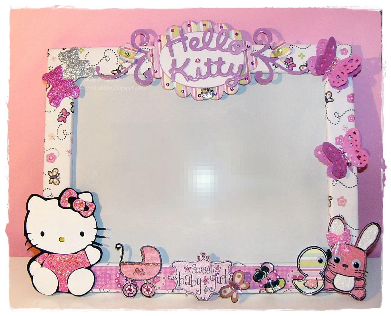 Hello Kitty Picture Frame | ... de la craft tanto el texto de Hello Kitty como la propia gatita