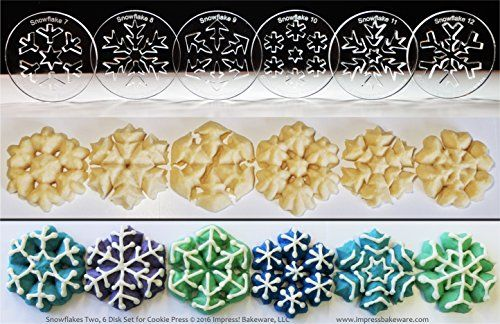 Snowflakes Two 6 Disk Set for Cookie Presses SIZE M disks for presses that came with METAL disks *** Want to know more, click on the image.